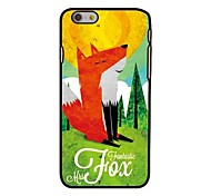 The Fox Style Plastic Hard Back Cover for iPhone 6