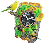 megafeis® T310 belle quartz horloge murale paon oiseau style de vigne chirm ondulée nouveau cadeau de Noël pour les enfants