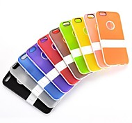 Smooth Ultra-slim Logo Cutout with Stand Style Detachable PC +TPU Cover for iPhone 6 (Assorted Colors)