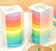 design colorido do arco-íris adesivos scrapbooking fita (10 pcs)