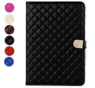 Grid Pattern PU Leather Case with Stand for iPad Air (Assorted Colors)