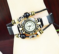 Women's Fashion National Wind Leather Bracelet Watch(assorted colors)