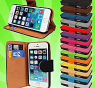 Wallet PU Leather Card Holder Case for iPhone 4/4S (Assored Colors)