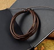 multi-tours des bracelets en cuir PU hommes de mode