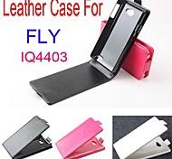 vendita calda cassa di cuoio dell'unità di elaborazione del cuoio di vibrazione 100% per volare iq4403 su e giù per smartphone a 3 colori