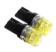T10 1.5W 100LM COB Yellow LED Car Instrument Lamps (DC12V, 2Pcs)