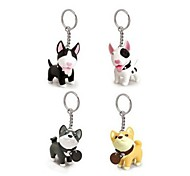 Lovely PVC Small Dog KeyChain(Assorted Colours)