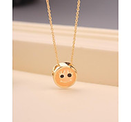 Fashion Short Smile Gold Plated Korea Necklace for Women In Jewelry