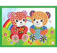 EVA Dot Mosaic 3D Stickers Children Hand DIY Bear Two Toy