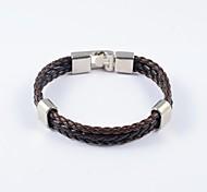 Classic Men's Weave PU Leather Bracelets