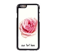 Personalized Case Rose Design Metal Case for iPhone 6 Plus