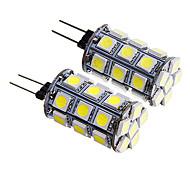 g4 4w 27x5050 SMD 300-350lm calda luce / bianco ha condotto la lampadina del cereale (12v 2pcs)