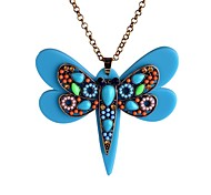 Lureme®Crystals Measle Big Butterfly Pendant Necklace