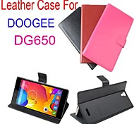 moda couro da tampa do caso da aleta para dg650 doogee lfet para smartphone ideal 3 cores