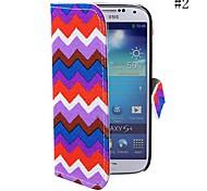 coway o padrão de onda pano caso coldre de telefone celular para samsung s4 i9500 (cores sortidas)