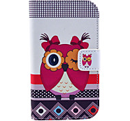 Beautiful Owl Pattern PU Leather Case with Stand and Card Slot for Motorola Moto E