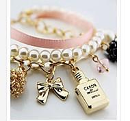 Lureme®South Korea Fashion Women's Pearl Alloy Bracelet