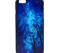 Blue Tree Pattern Pattern Hard Case Cover for iPhone 6
