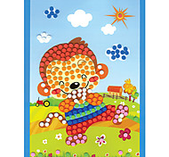 EVA Dot Mosaic 3D Stickers Children Hand DIY Happy Monkey Toy