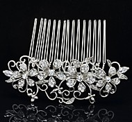 8.6cm Eleghant Flower Hair Comb Tiara Wedding Bridal Jewelry for Party