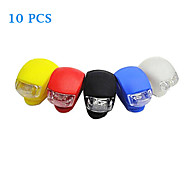 Bike Light,10PCS Silica Gel LED Five Colors Cycling Frog Safety Lamp