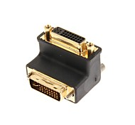 DVI Male to Female 90 Degree Adapter