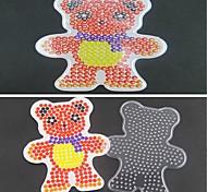 1pcs modelo contas de fusíveis claras pegboard padrão de urso cachecol para hama contas 5 milímetros cabeças diy