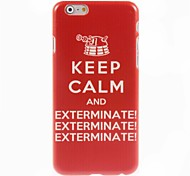 Keep Calm Pattern Hard Case for iPhone 6 Plus