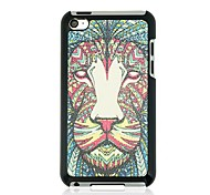 Lion Leather Vein Pattern Hard Case for iPod touch 4
