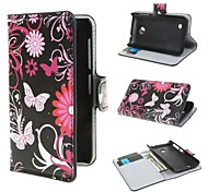 Black Butterflies Pattern PU Leather Cover with Stand and Card Slot for Nokia Lumia 530