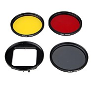 Gopro Accessories Dive Filter For Gopro Hero 3+ Synthetic Red / Yellow