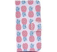 Коко fun® розовый узор ананас искусственная кожа полный случай тела с защитой экрана, стилус и стенд для iPhone 5с