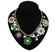Frauen eu&uns luxuriösen exquisite Gänseblümchen Schellfisch-Aussagen-Halskette