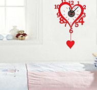 zooyoo® diy elektronische Batteriemusikzeitnehmer diy Herzform Wandaufkleberausgangsdekor für Sie Wohnzimmer