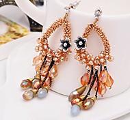 I FREE SILVER®Women's Bohemian Style Handmade Drop Earrings 2 pcs (1 pair)