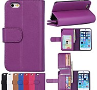 Wallet Pattern PU Leather Full Body Case with Card Slot for iPhone 6 (Assorted Colors)