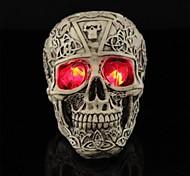 трюк светодиоды светящиеся глаза смолы тиснением черепа для Хэллоуина (1 шт)