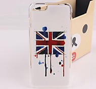 Vintage British Flag Plastic Hard Back Cover for iPhone 6 Plus