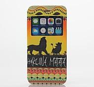 o padrão de leão pu abrir o caso de corpo inteiro de couro janela com suporte para o iPhone 6