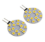 G4 2.5W 15x5050SMD 180-210LM Warm White/White Light LED Spot Bulb (12V 2PCS)