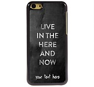 personalisierte Fall leben im Hier und dort entwerfen Metallkasten für iphone 5c