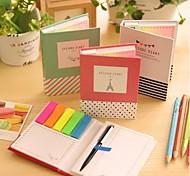 diferentes notas auto-adesivos de forma definidos com caneta esferográfica (cor aleatória)