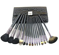 15pcs High Quality Natural Horsehair Professional Makeup Brush With Free Bag