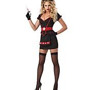 Vampire Style Black Polyester Sexy Nurse Uniform