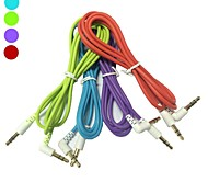 1,2 m 4 pies 90 grados 3.5mm macho a cable de audio aux masculina para iphone ipod mp3 mp4