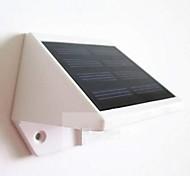 mlsled® 0.6W 4 Mini LED / lampe murale blanche imperméable à l'eau à l'énergie solaire mur / jardin - blanc