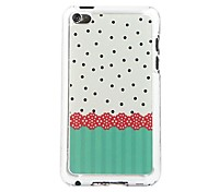 Lace Wave Point Leather Vein Pattern PC Hard Case for iPod touch 4