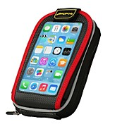 """Coolchange 5.2"""" Touch Screen Bike Frame Bags-Black+Red"""