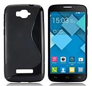 S Shape Design Soft Gel TPU Case for Alcatel One Touch Pop C7 OT-7040D(Assorted Color)