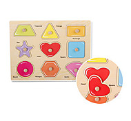 Different Shape Embedded Puzzle Wooden Educational Toy